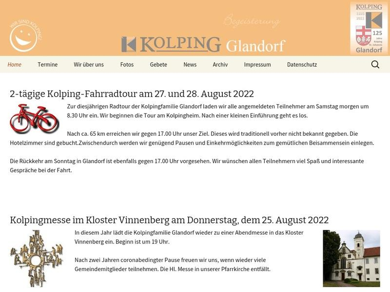 Screenshot von http://www.kolping-glandorf.de