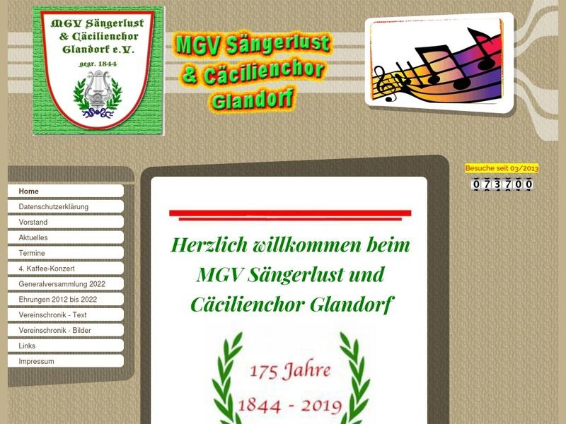 Screenshot von http://www.gesangverein-glandorf.de